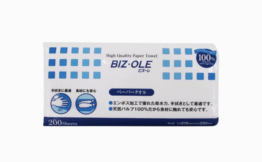 BIZ・OLE-ビズーレ-ペーパータオル|30個入り