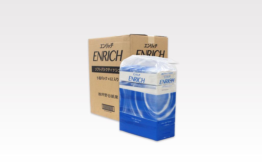 エンリッチ ソフトパックティッシュ150組|60箱入り