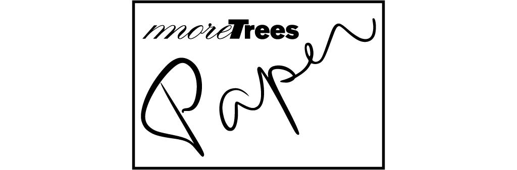 more treesの森の木材を使った原紙more trees paper